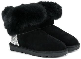 MonnaLisa TEEN fur-trimmed boots