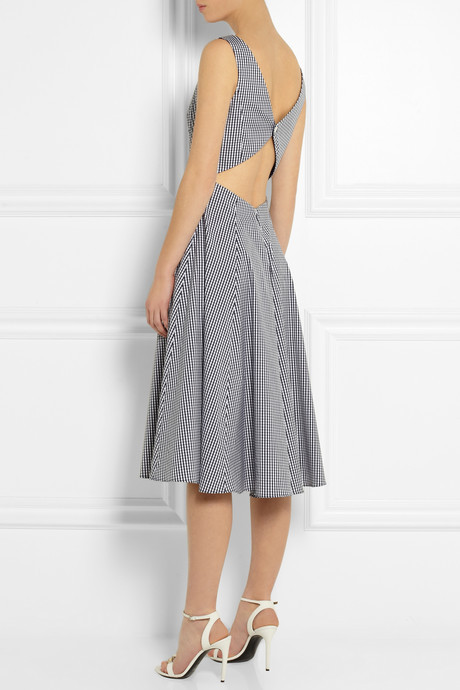 Michael Kors Gingham stretch cotton-blend dress