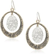 Barse Bronze and Sterling Silver Orbital Drop Earrings