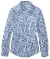 L.L. Bean Wrinkle-Free Pinpoint Oxford Shirt, Long-Sleeve Floral