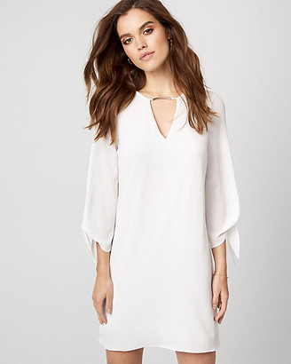 Le Château Crepe de Chine V-Neck Tunic Dress
