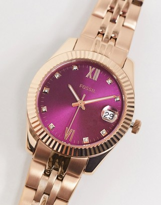 Fossil womens bracelet watch in gold ES4900
