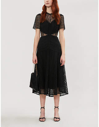 Sandro Panelled guipure lace dress