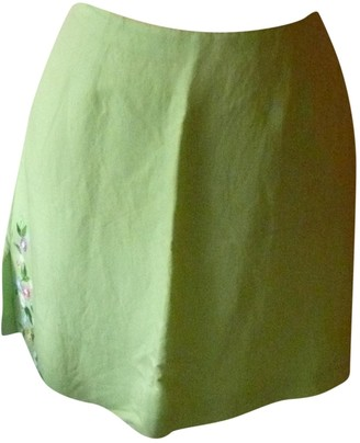 Kenzo Green Linen Skirt for Women