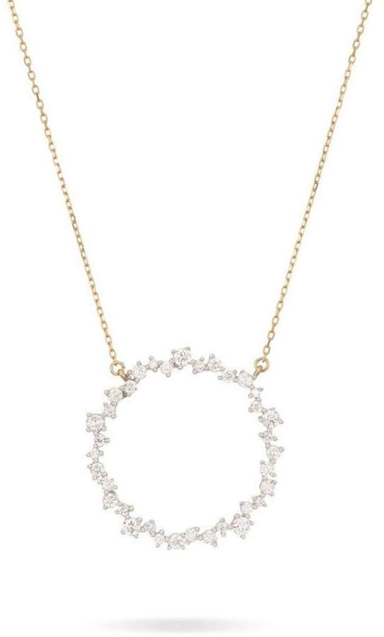 Adina Diamond Circle Necklace