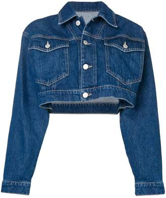 Chiara Ferragni cropped wink denim jacket