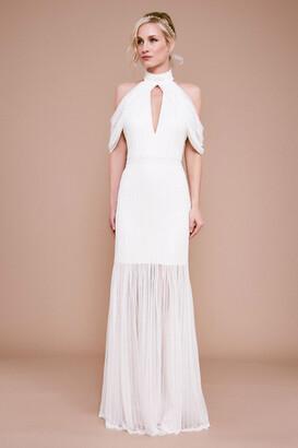 Tadashi Shoji Alcott Cold-Shoulder Corded Lace Gown