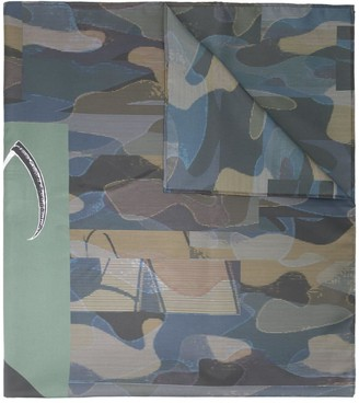 Undercover camouflage print scarf