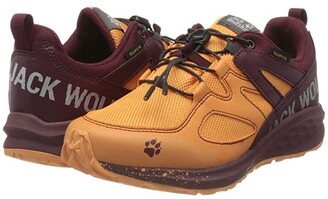 Jack Wolfskin Kids Unleash 2 Speed Texapore Low (Little Kid/Big Kid) (Apricot/Burgundy) Girl's Shoes