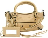 Balenciaga First Beige Leather Handbags