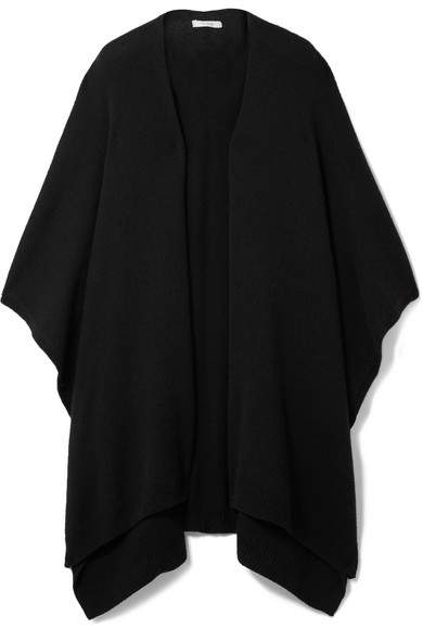 The Row Hern Cashmere Cape - Black