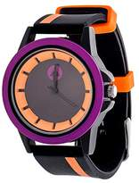 Airwalk Automatic Metal and Silicone Casual Watch, Color:Black (Model: AWW-5099-OR)