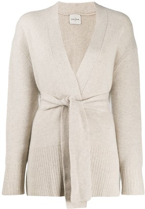 Le Kasha Long-Sleeve Draped Cardigan