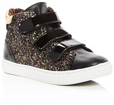 Steve Madden Girls' Jvex Glitter High Top Sneakers - Little Kid, Big Kid