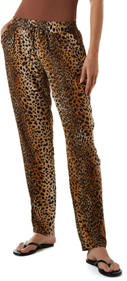 Melissa Odabash Jude Coverup Animal-Print Pants