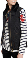 Joules Inverness Quilted Gilet, Black