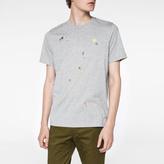 Paul Smith Men's Grey Marl 'Tablet' Print T-Shirt
