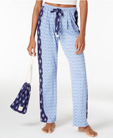 Lucky Brand Printed Pajama Pants and Drawstring Pouch Set