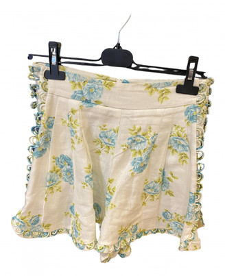 Zimmermann White Cloth Shorts