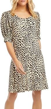 Karen Kane Cheetah Print Puff-Sleeve Dress