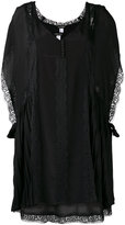 Twin-Set pleated detail lace dress - women - Polyamide/Polyester - XS