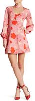 Jill Stuart Printed V-Neck Dress