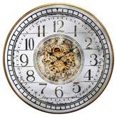 "A&B Home 36"" Round Wall Clock White/Brass"