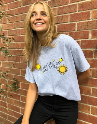 Daisy Street relaxed t-shirt with sunshine print