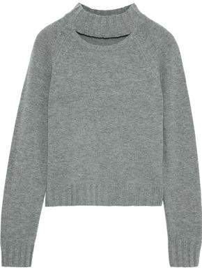 Equipment Abel Cutout Wool And Cashmere-blend Sweater