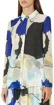 Reiss Celina Watercolor Blouse