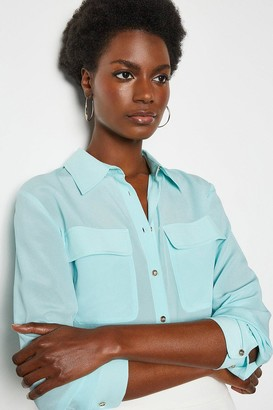 Karen Millen Silk Double Pocket Blouse