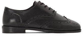La Redoute Collections Leather Brogues with Floral Tips