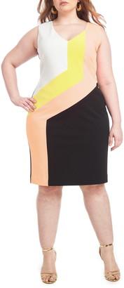 Christian Siriano Colorblock Sheath Dress