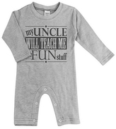 Urban Smalls Light Heather Gray 'Uncle Will Teach Me' Playsuit - Infant