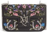 Alexander McQueen Medium Insignia Calfskin Leather Shoulder Bag - Black