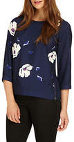 Phase Eight Cassie Floral Blouse, Royal Blue