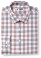 Express extra slim plaid dress shirt