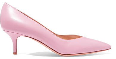 Gianvito Rossi 55 Leather Pumps - Baby pink