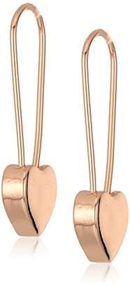 Betsey Johnson Women's Heart Safety Pin Earrings