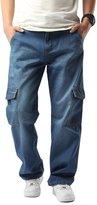 Yollmart Mens Heavy Duty multi Pocket Cargo Combat Denim Jeans Pants