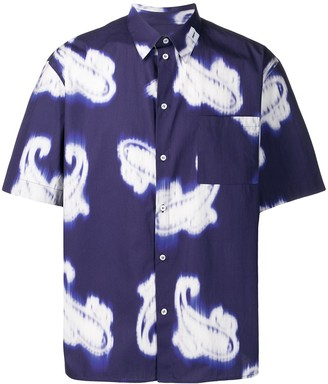 MSGM Blurred Paisley Print Shirt