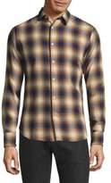 Officine Generale Plaid Cotton Casual Button-Down Shirt