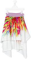 Junior Gaultier Teen printed skirt - kids - Cotton/Polyester - 14 yrs