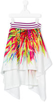 Junior Gaultier Teen printed skirt - kids - Cotton/Polyester - 16 yrs