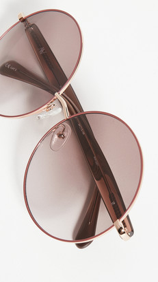 Linda Farrow Luxe Mathew Williamson X Linda Farrow Round Sunglasses