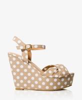 Forever 21 Polka Dot Wedge Sandals