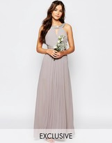 TFNC WEDDING Embellished Pleated Maxi Dress