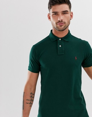 Polo Ralph Lauren pique polo slim fit player logo in college green