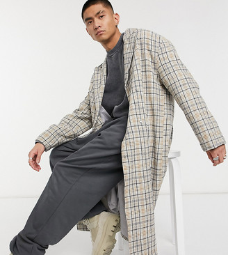 Reclaimed Vintage inspired unisex heritage check maxi coat