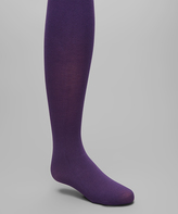 Me Moi Deep Purple Pima Tights - Toddler & Girls